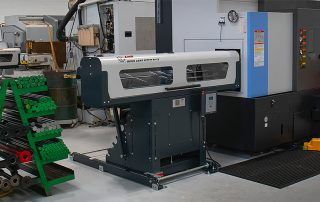 LNS bar feeder for punch and die tooling