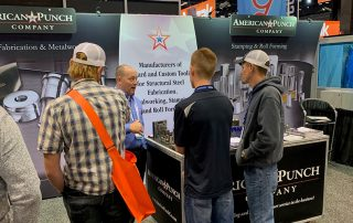 The American Punch Booth at Fabtech 2019 featuring precision tooling